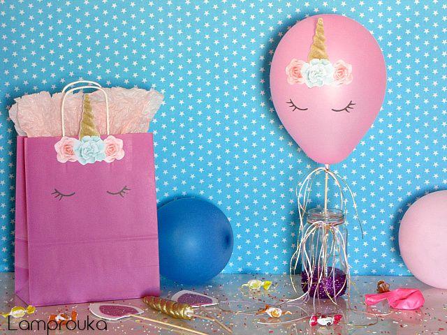4 ιδέες διακόσμησης για πάρτι με θέμα τον μονόκερο.