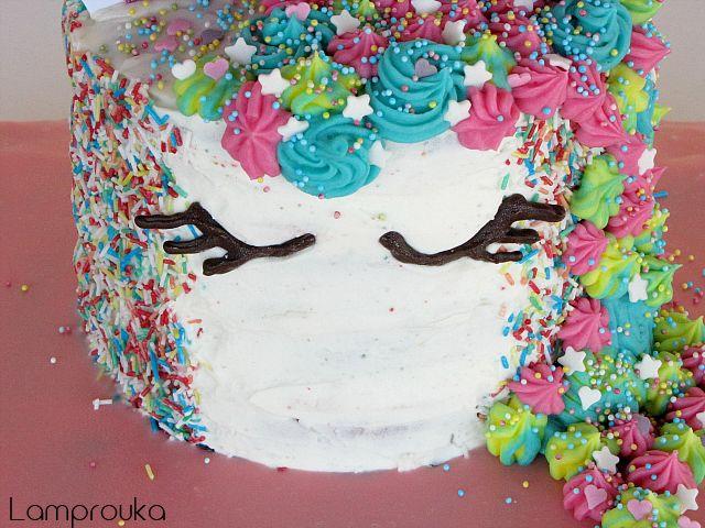 Διώροφη τούρτα μονόκερος με συνταγές και οδηγίες