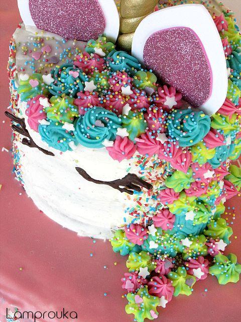Διώροφη τούρτα για κορίτσια