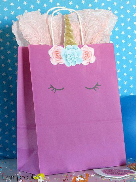 Τσάντα δώρου μονόκερος