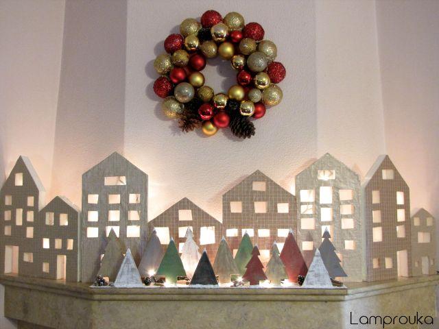 Φτιάξε ξύλινα δεντράκια για την χριστουγεννιάτικη διακόσμηση του σπιτιού σου.