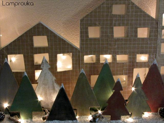Πώς να φτιάξεις ξύλινα δεντράκια για χριστουγεννιάτικη διακόσμηση.