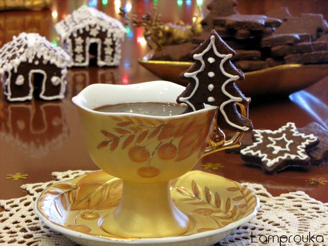 Χριστουγεννιάτικα μπισκότα σοκολάτας.