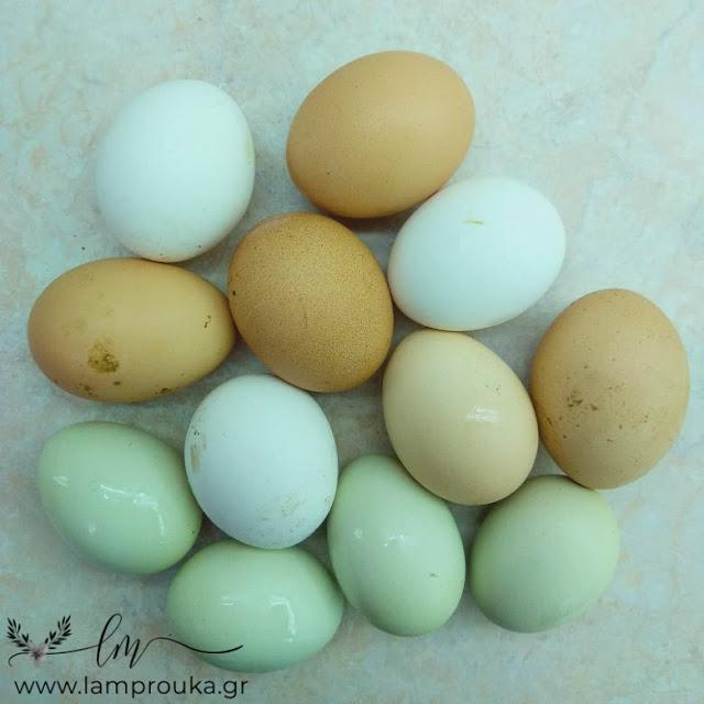 Χρωματιστά αυγά για το Πάσχα