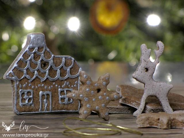 Ζύμη αλατιού με κανέλα για αρωματικά χριστουγεννιάτικα στολίδια.