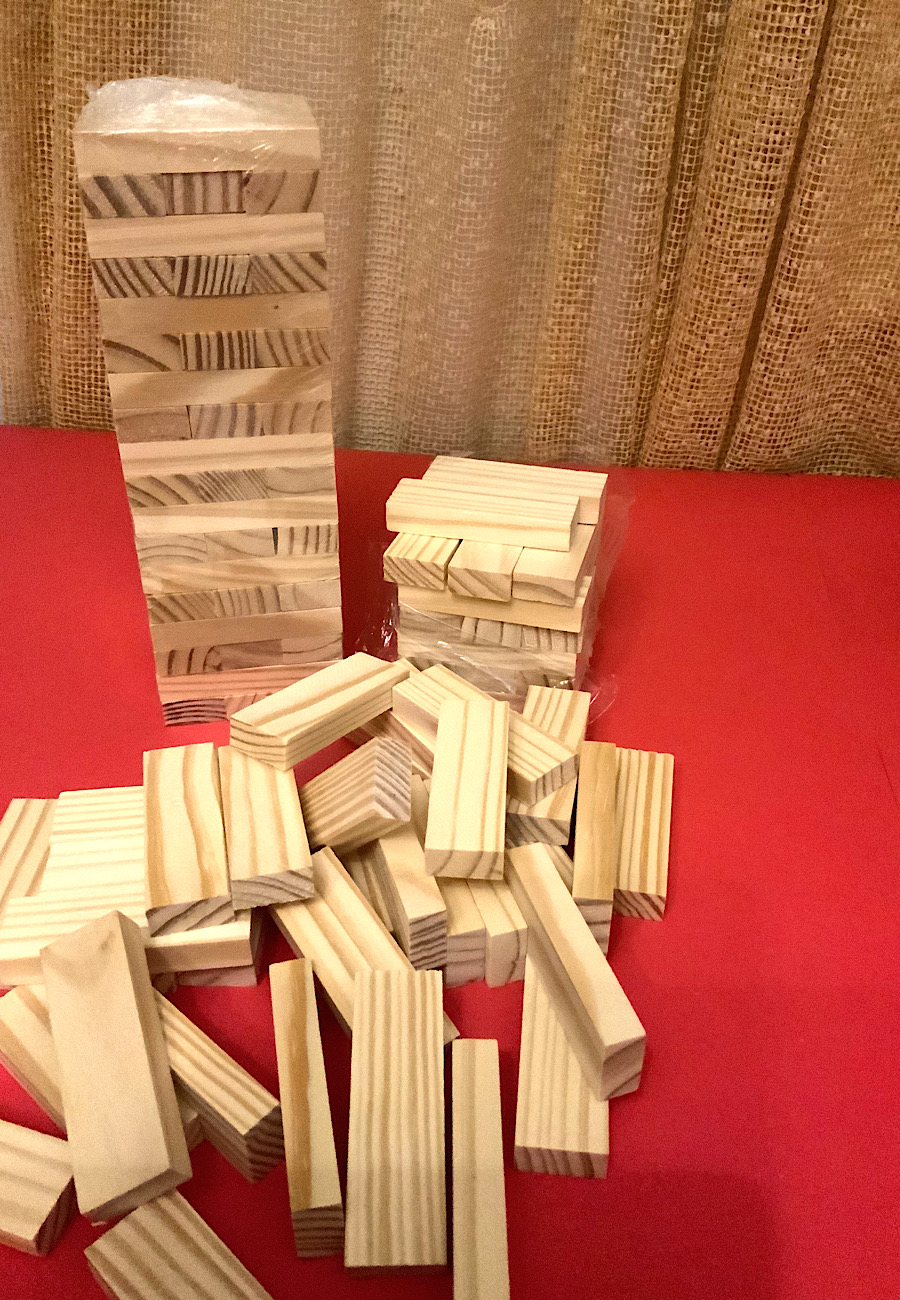 jenga pieces for weekly panel diy