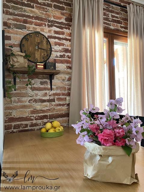 Ταπετσαρία τοίχου στην κουζίνα και διακόσμηση