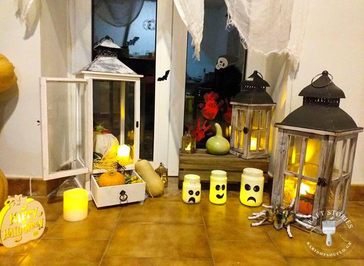 Διακόσμηση σπιτιού για την νύχτα του Halloween.