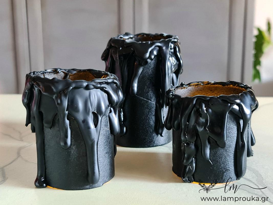 Φτιάξε ψεύτικα κεριά από χάρτινα ρολά για το Halloween.