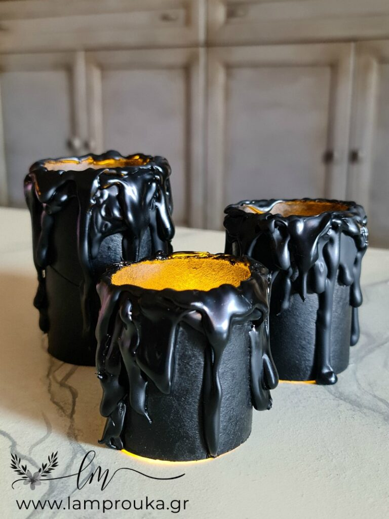 Πως να φτιάξεις ψεύτικα κεριά από ρολά τουαλέτας.