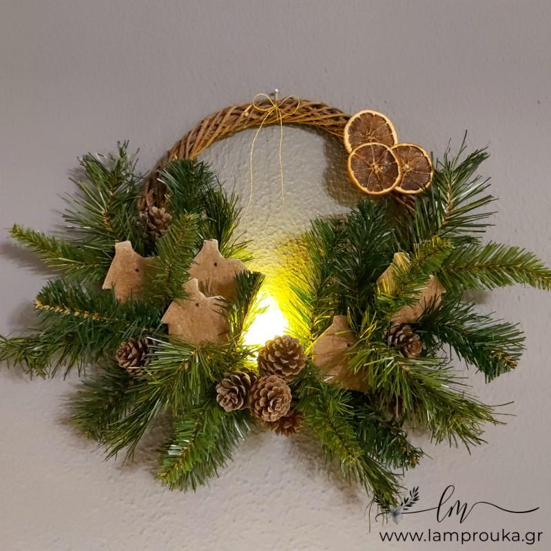 Diy χριστουγεννιάτικο στεφάνι
