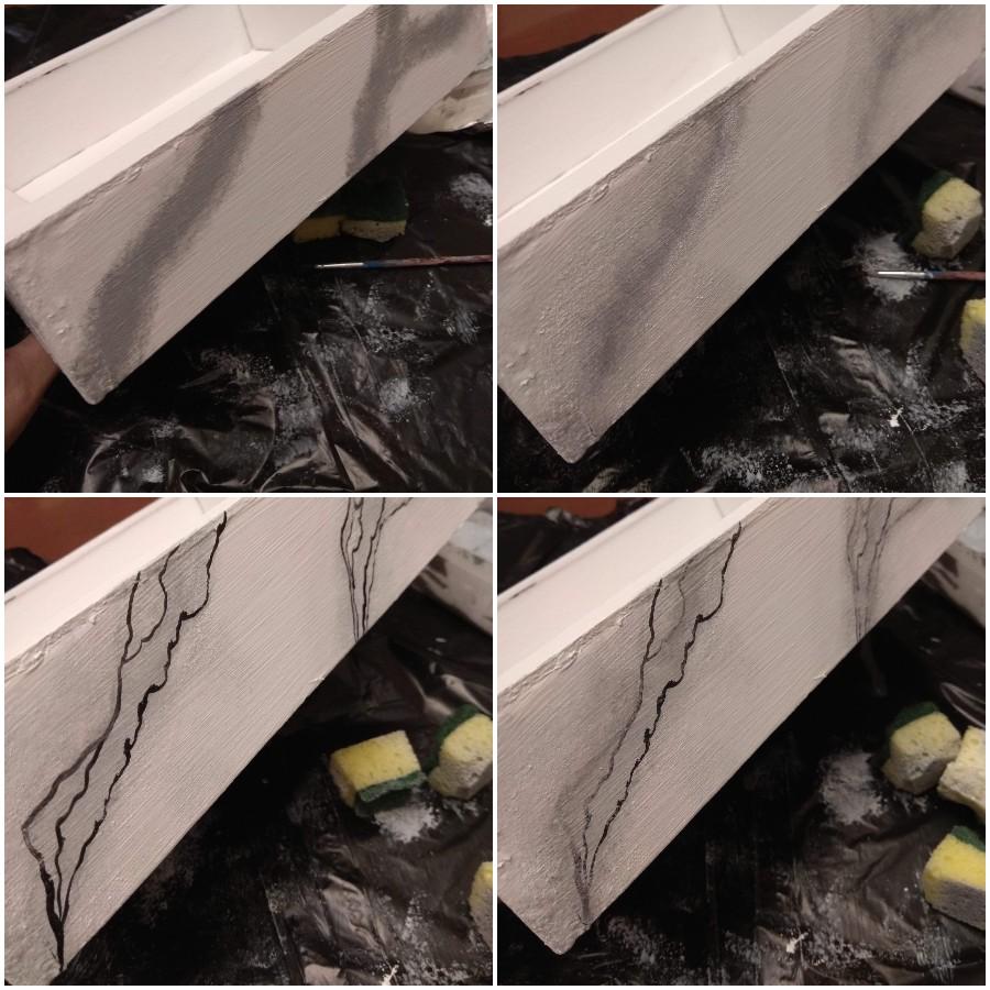 Τεχνική μαρμάρου με ζωγραφική