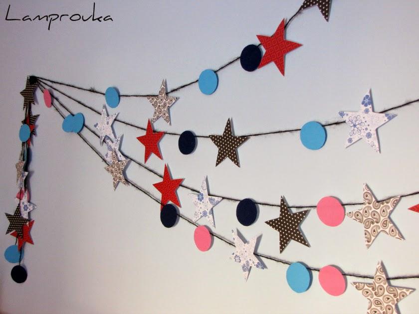 Χάρτινη γιρλάντα με αστέρια για το παιδικό δωμάτιο