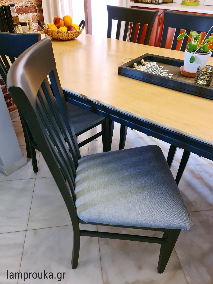 Αλλαγή χρώματος καρέκλας με ριπολίνη νερού