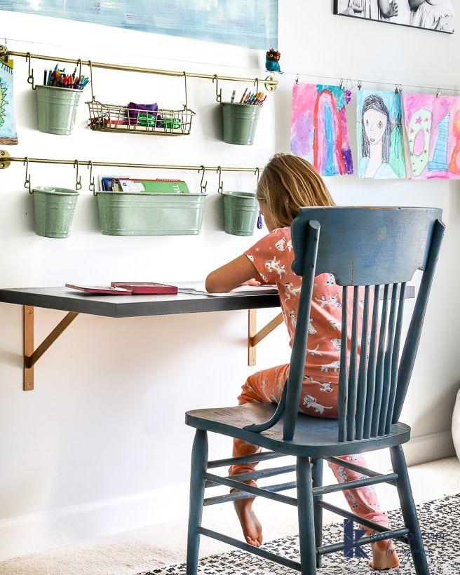 Diy εύκολο γραφείο ράφι με στηρίγματα στον τοίχο - 10 DIY ιδέες γραφείου