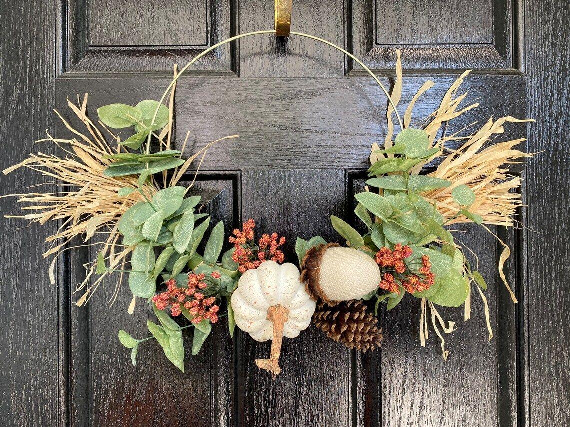 Diy φθινοπωρινό στεφάνι για φθινοπωρινή διακόσμηση