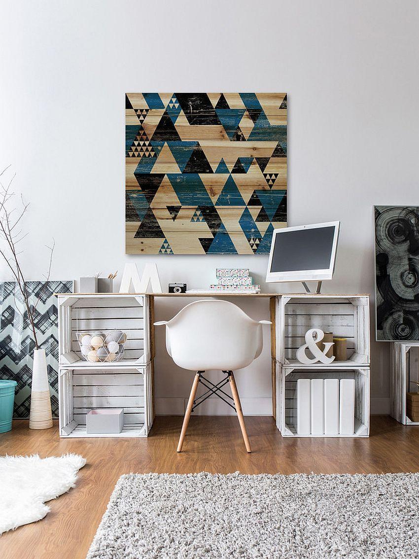 Diy γραφείο με ξύλινα κιβώτια για ράφια - 10 DIY ιδέες γραφείου