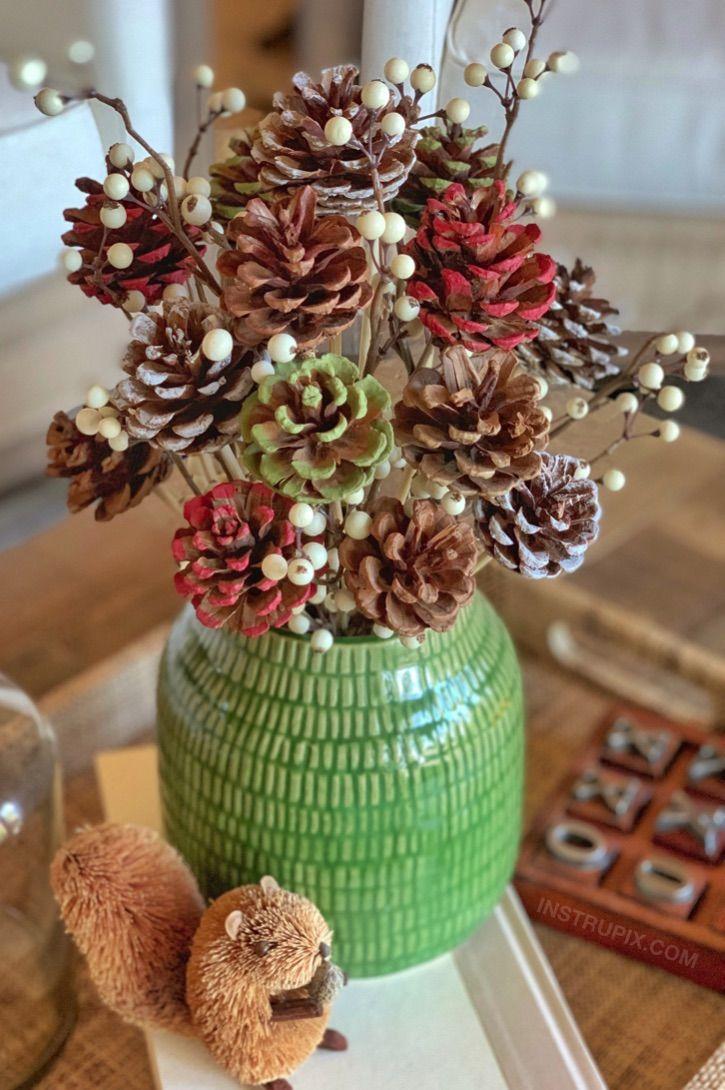 Φθινοπωρινά diy κατασκευές με κουκουνάρια