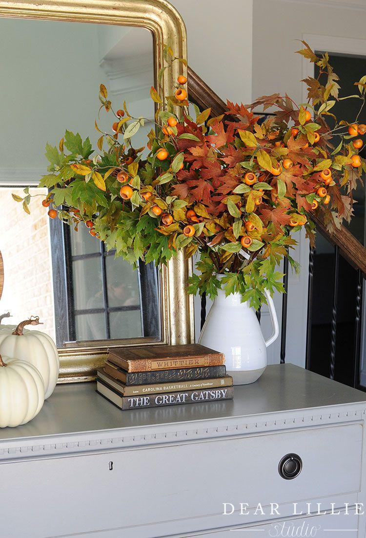 Φθινοπωρινή διακόσμηση, diy φθινοπωρινά κλαδιά στα βάζα