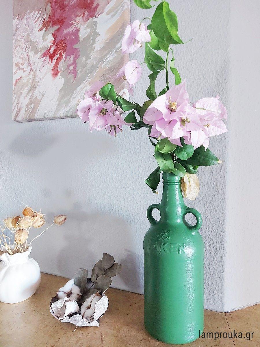 Πως να βάψεις γυάλινα βάζα με ακρυλικά χρώματα
